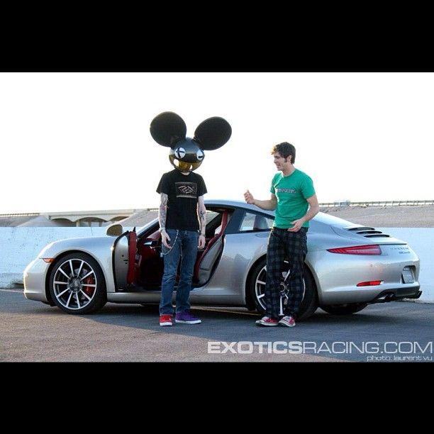 Deadmau5 and Tobuscus at Exotics Racing in Las Vegas