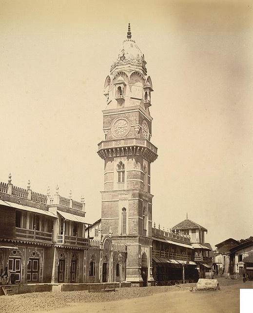 Chimnabai Tower at Kothi, Baroda (1890's)