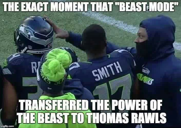 When beast mode transferred power to Thomas Rawls