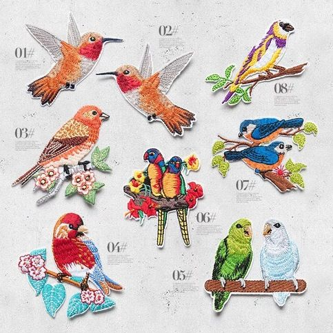 Set of 8 pcs Bird patch sew on patch   Iron on patch embroidered patch applique  Size : 1# 6.5cm X 6cm , 2# 6.5cm X 6cm            3# 6.5cm X 6.5cm , 4# 7cm X 7cm            5# 6.2cm X 6.8cm , 6# 5.5cm X 6.5 cm            7# 6.5cm X 5cm , 8# 6.5cm X 5.5cm                       (As is photo)  Quan...