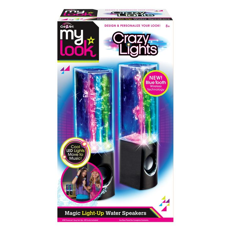 My Look Crazy Lights Magic Water Speakers by Cra-Z-Art - Colors May Vary,