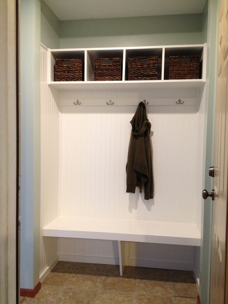 Mini Mudroom With Bench Closet Turned Mini Mudroom Pinterest