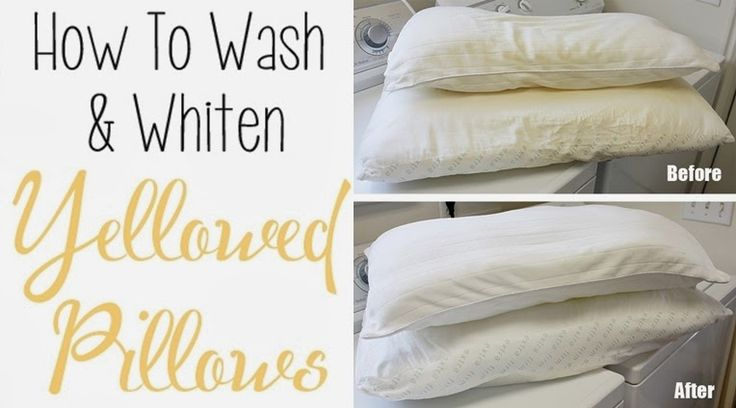 Wash And Whiten Yellowed Pillows