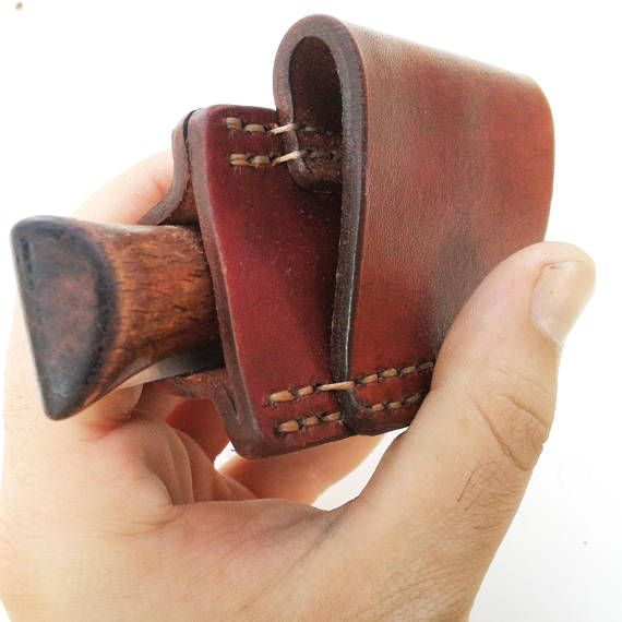 Horizontal Carry Leather Sheath With Belt Loop Made For Opinel