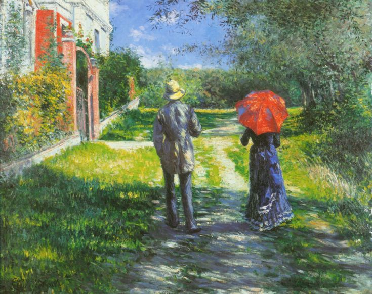 Gustave Caillebotte - Rising Road (1881)