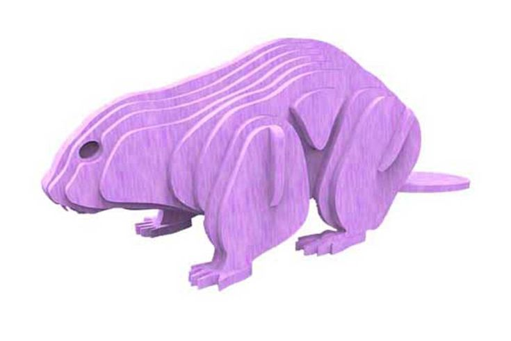 Beaver - North American Animals Plasma Version - Animals (Plasma) | MakeCNC.com