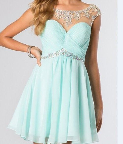 baby blue short dress