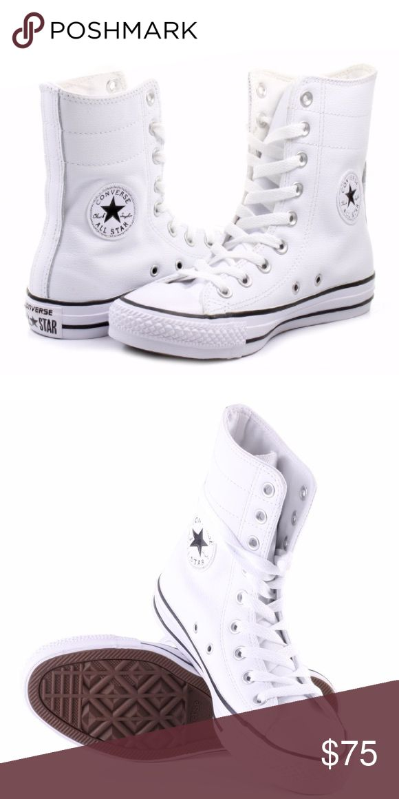 CONVERSE LEATHER SIZE 8 WOMENS WHITE SHOES HI TOPS Brand new without box Converse Shoes Sneakers