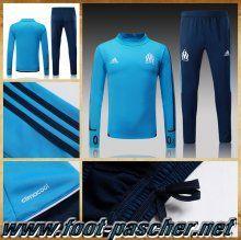Survetement Adidas Homme Pas Cher Marseille OM Bleu Ensemble 2017/2018 Discount