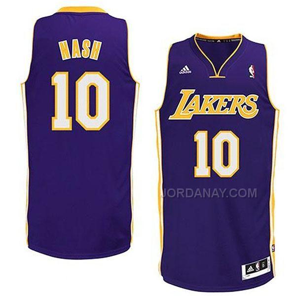 9c5844bf9 ... 10 Steve Nash Black Electricity Fashion Jersey Steve Nash Los Angeles  Lakers NBA Revolution Swingman Road Jersey