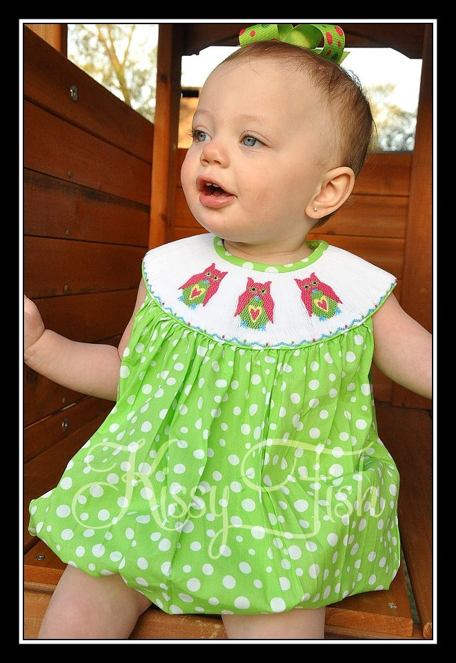 15 best kissy fish smocked clothing images on pinterest for Owl fish clothing