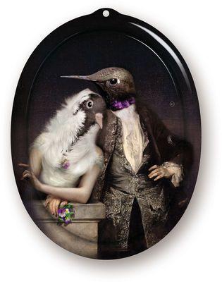 Plateau The Lovebirds / Cadre - 26 x 20 cm