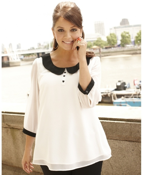 Totally cute! Must find a-look-alike in Canada like this! Peter Pan Collar Blouse