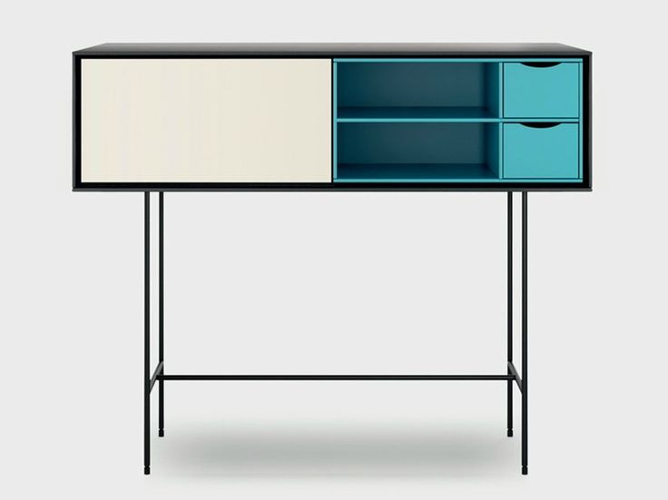 lacquered wooden console table Aura s8-2, design Angel Martí, Enrique Delamo, Aura collection to manufacturer Treku