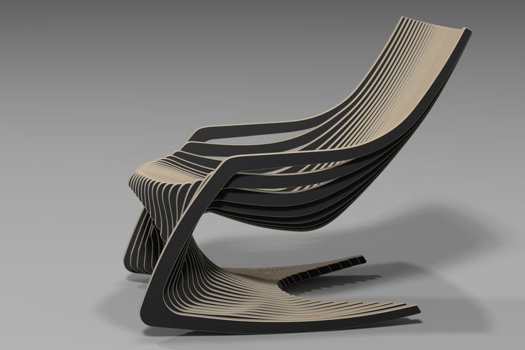 Rocking Chair 3d Design Plywood Furniture Cnc Chair Yoo