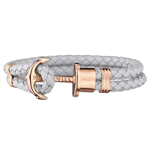 PAUL HEWITT Phrep Leder Armband Grau mit Rosé PH-L-R http://www.thejewellershop.com/ #paulhewitt #hewitt #rosé #white #ph #jewelry #bracelet #armband #schmuck