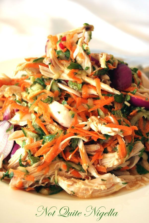 Vietnamese chicken and mint salad - I would want to omit or replace sugar, not sure if that would mess with the recipe though ~mml