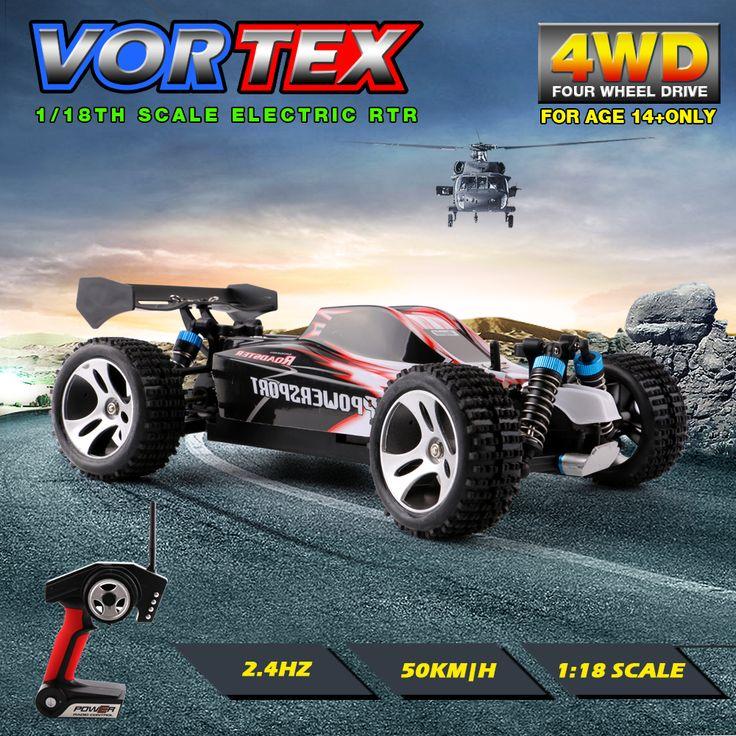WLtoys A959 2.4G Listrik Rc Mobil 50 Km/H 4WD Shaft Drive truk Kecepatan Tinggi Radio Control Rc Rakasa truk, Super Daya Siap mainan