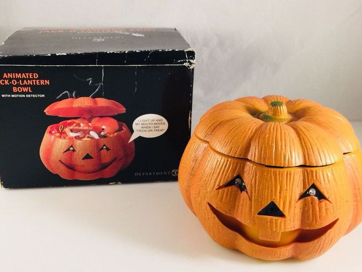 DEPARTMENT 56 ANIMATED JACK-O-LANTERN BOWL WITH MOTION DETECTOR LIGHT SOUND  | eBay