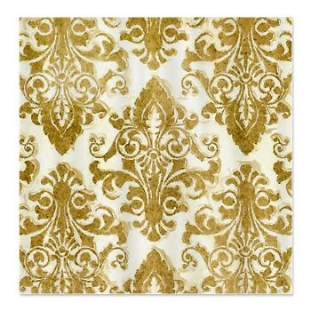 Golden Damask Shower Curtain