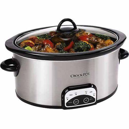 Crock-Pot 7-Quart Smart Pot Programmable Slow Cooker, Stainless Steel, SCCPVP700-S-A-WM1 - Walmart.com