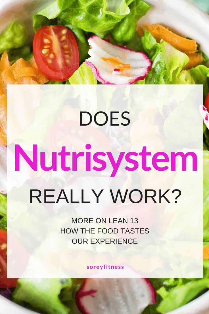 Nutrisystem reviews does lean 13 really work is the food good