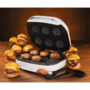 Mini burger maker  http://www.wicked-gadgets.com/mini-burger-maker/  #food #burgers