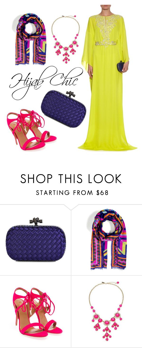 """""""Hijab Chic"""" by hijab-chic ❤ liked on Polyvore featuring Bottega Veneta, Ralph Lauren Collection, Aquazzura and Lilly Pulitzer"""