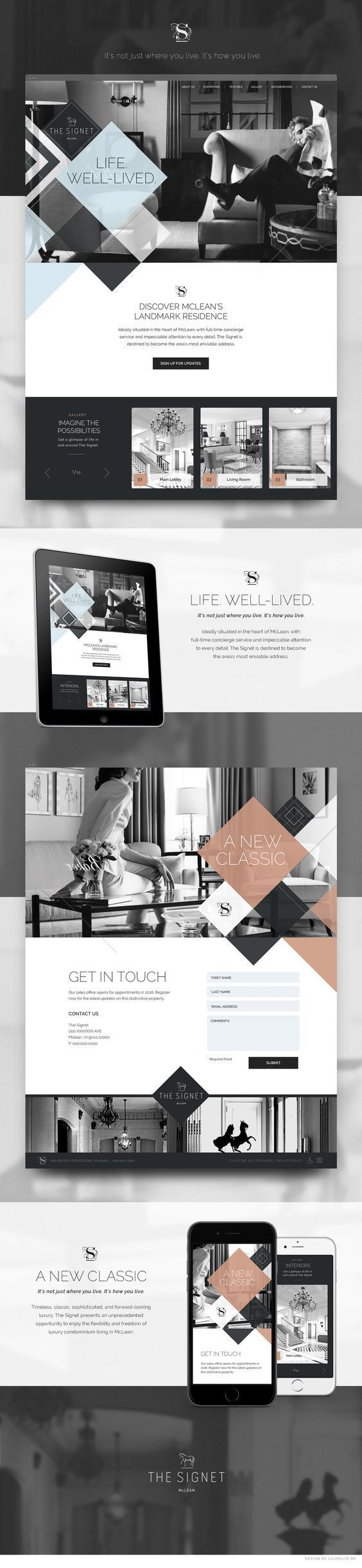 The Signet Luxury Homes Web Design by Laura Lin | Fivestar Branding – Design and Branding Agency & Inspiration Gallery. If you like UX, design, or design thinking, check out theuxblog.com