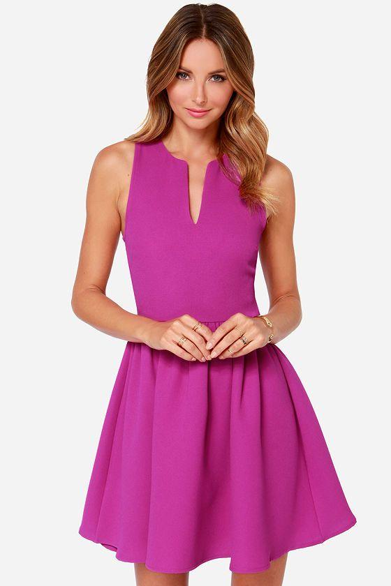 Change of Pace Sleeveless Magenta Dress at Lulus.com!