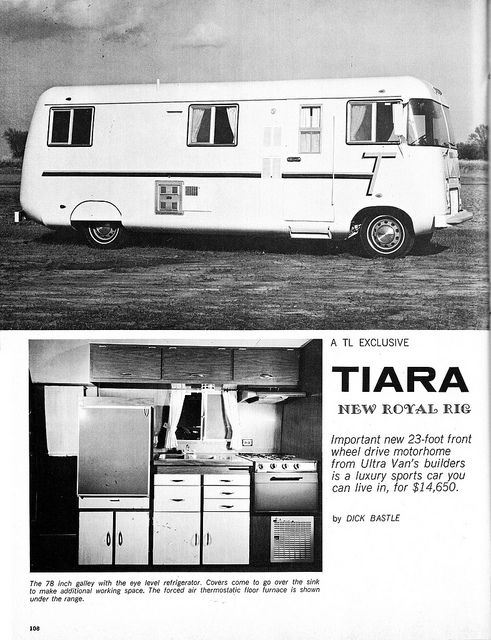 Curbside Classic: Tiara – The Ultra Hot-Rod Of Motorhomes -- CC reader Tom found this 1971 Tiara for sale on craigslist ($9000), ... Actually, Chuck Burgess was responsible for developing both the Tiara and the V8 Ultra Van.