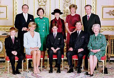 Princess Diana....one of her last pictures with the royal family, and her boys