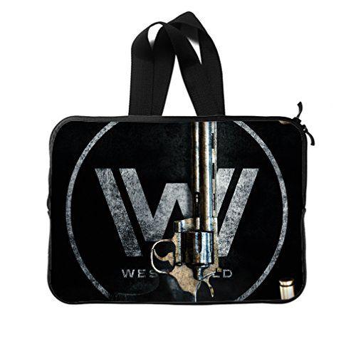 JIUDUIDODO Custom Sightly Westworld Neoprene Laptop Sleeve 15 Laptop Briefcases Handbags (Twin Sides)