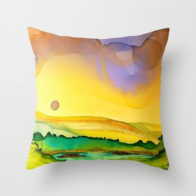 Little Pool Throw Pillow by Terri Edwards - $20.00