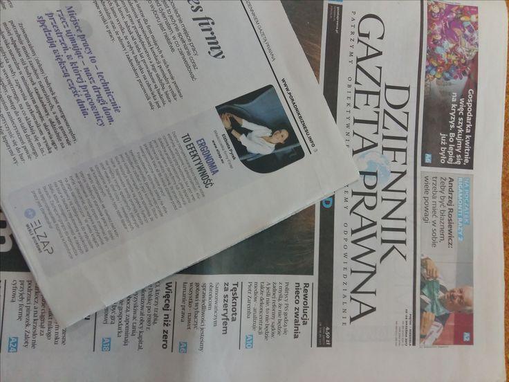 Czytaliście już dzisiejszą Gazetę Prawną?  W środku porada ekspercka Elżbiety Pyrek!  #elzap #meble #gazeta #biuro