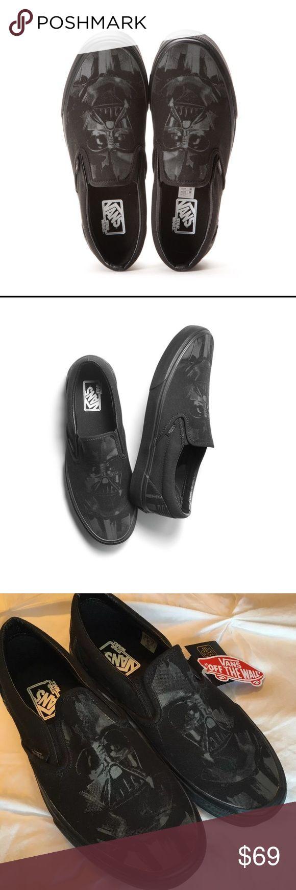 VANS Star Wars Darth Vader classic black slip-on VANS Star Wars Darth Vader classic black slip-on shoe.  Unisex men's size 6.5, women's size 8. NWOB. Vans Shoes
