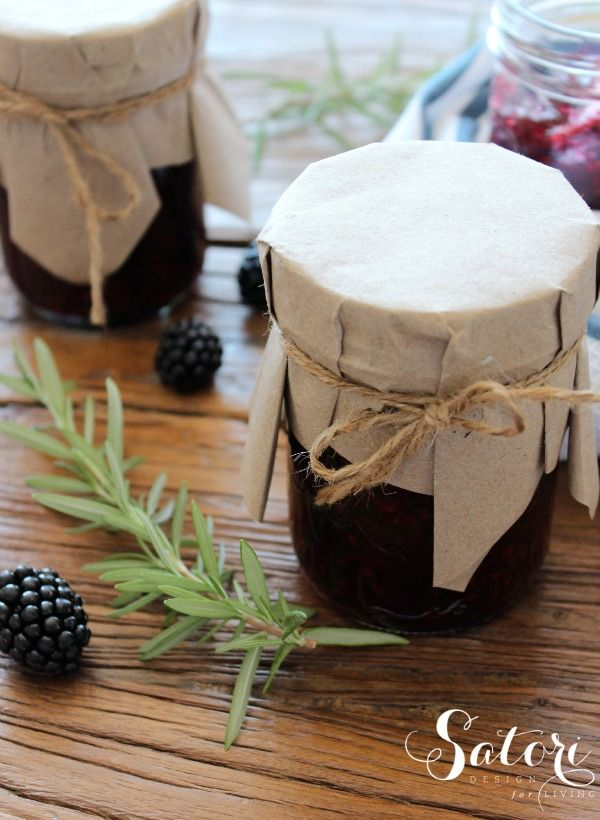 Blackberry & Rosemary jam gift in a jar.