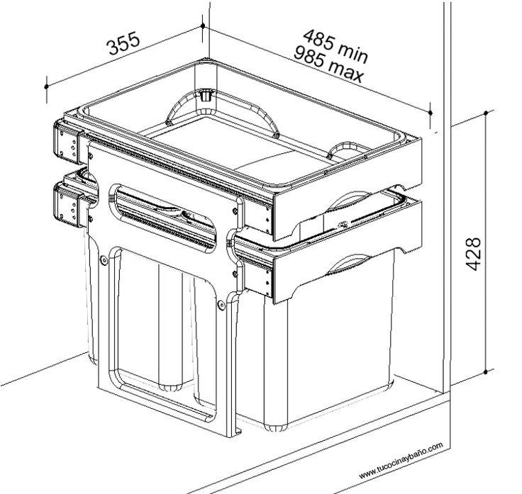 Mejores 49 im genes de muebles reciclados pintura tiza en - Cubo basura extraible ...