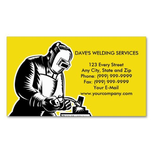 welder welding businesscard business card templates