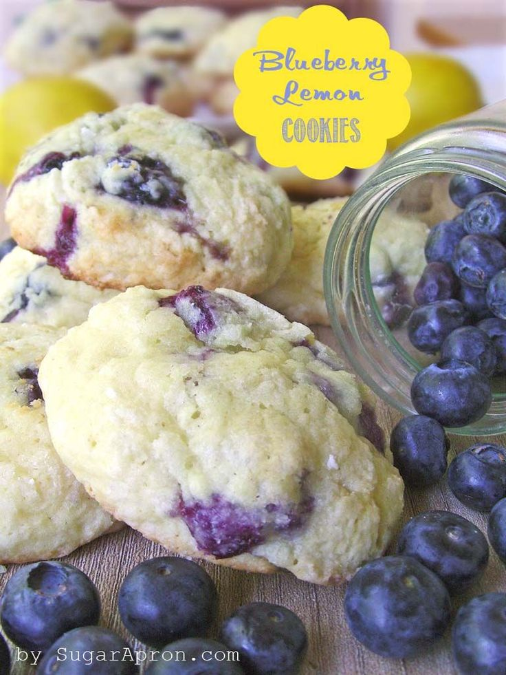 Blueberry Lemon Cookies  | www.sugarapron.com | #recipes #blueberry #cookies