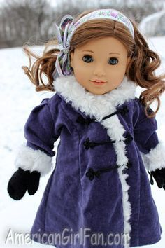 Gorgeous AG Rebecca having winter fun... More pics at American Girl Fan blog