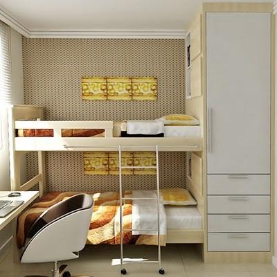 arquiteto Jean Carlos Flores usou MDF madeirado em carvalho prata da Duratex e MDF branco para deixar o quarto com cores suaves e com aspecto tranquilo. Também usou um papel de parede pensando na harmonia de cores.