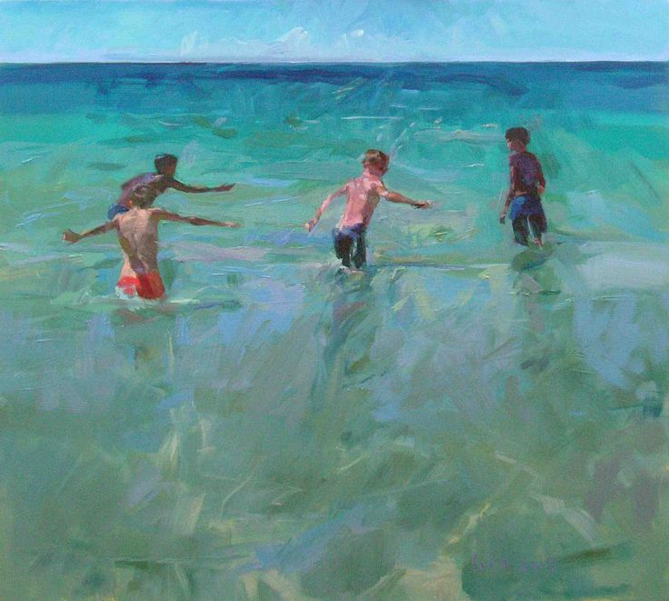 In this Way, by Bob Booth, oil on canvas #painting http://www.trinitypaintbox.com/blogs/reflections