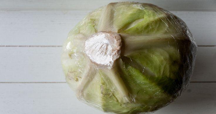 Τα λάχανα συντηρούνται στο συρτάρι του ψυγείου, τυλιγμένα με μεμβράνη, για δυο…