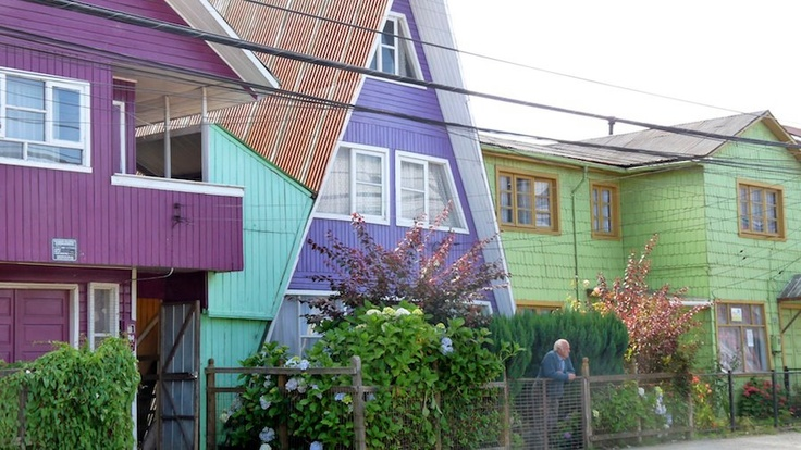 Island Chiloé, Chonchi, South Chile  #chiloe #chonchi #chile #patagonia #travel #architecture #puertovaras #travel