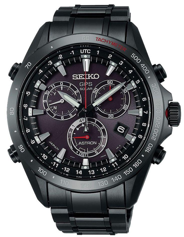 Reloj Hombre SEIKO ASTRON SSE031J1 de Acero inoxidable Negro