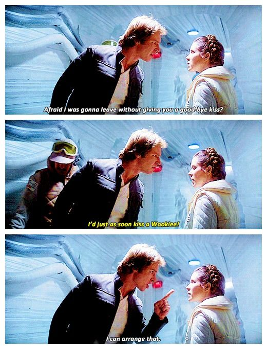 Star Wars / I love the fact that the other rebels just walk around Han & Leia as they're used to their shit.