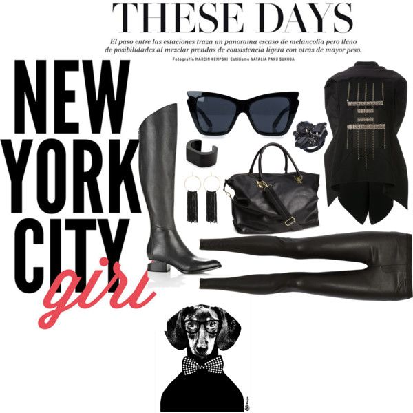 Sadira by marnella on Polyvore featuring Rick Owens, Helmut Lang, H&M, Bebe, Ted Rossi, NOVICA, Le Specs, HUGO and WALL