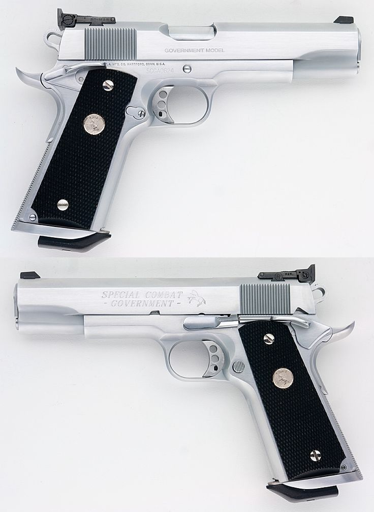 COLT 1911 SPECIAL COMBAT GOVERNMENT COMPETITION MODEL HARD CHROME 45 ACP Item: 11366465 | Mobile GunAuction.com