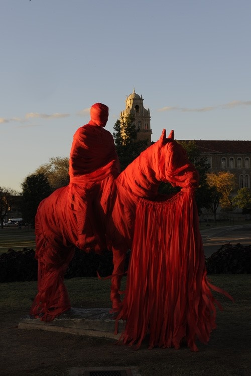 Texas Tech's Will Rogers wrapped for game day!